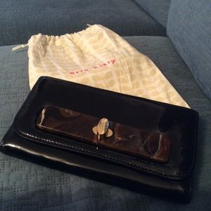 Orla Kiely Black Patent Leather Wallet